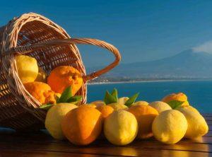 Limones en cesta
