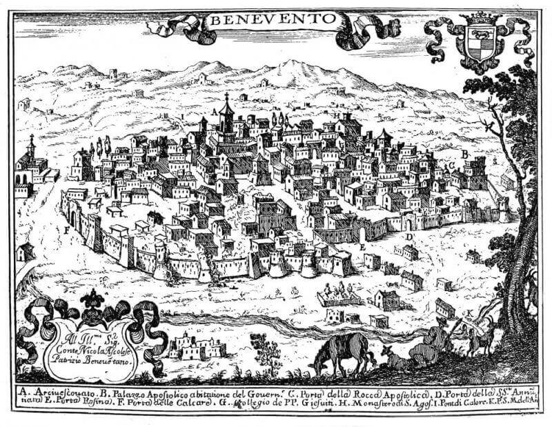 Mapa de Benevento 1600