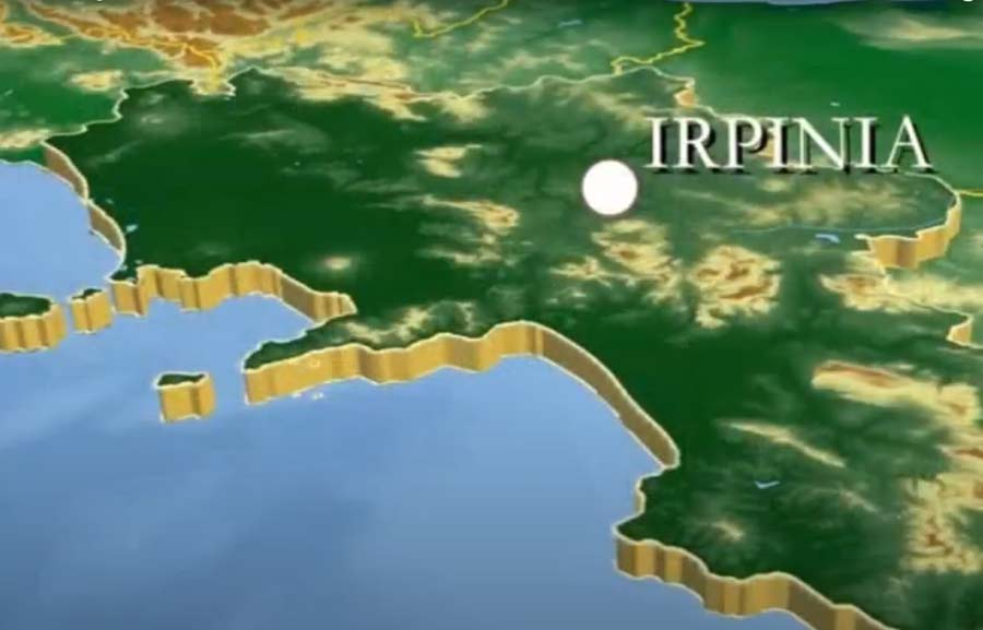Irpinia mapa